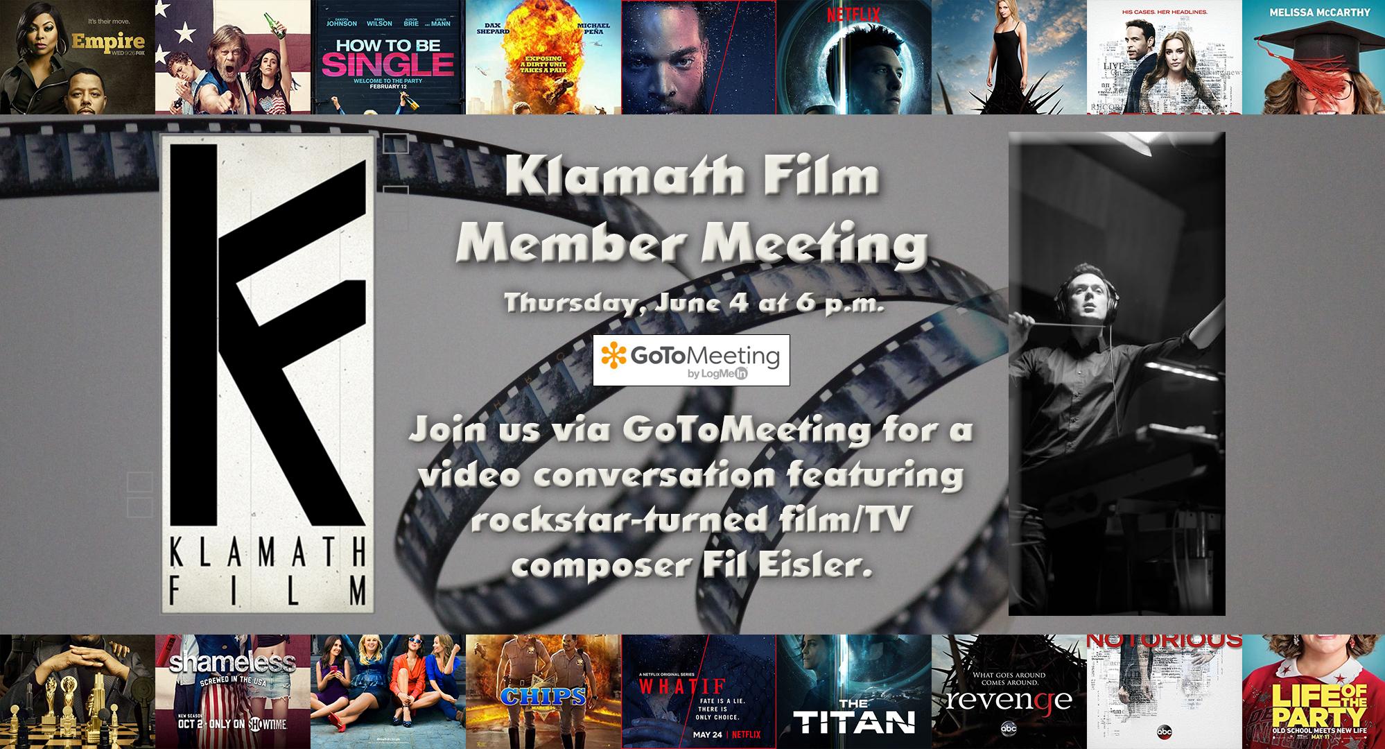 June Member Meeting to feature film composer Fil Eisler