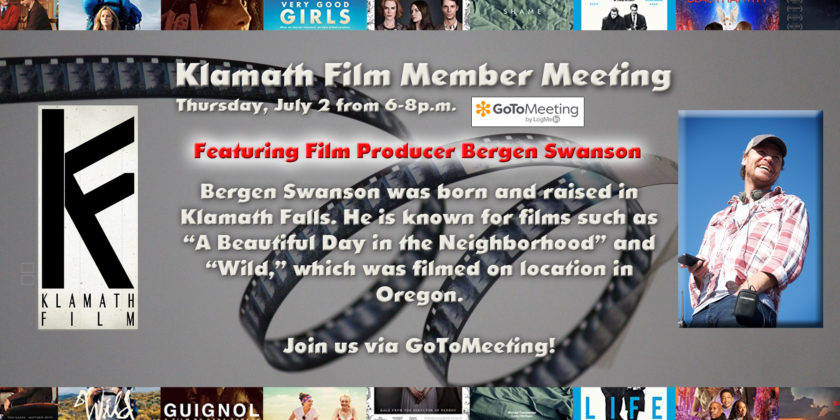 July Member Meeting to feature Klamath Falls-raised film producer Bergen Swanson