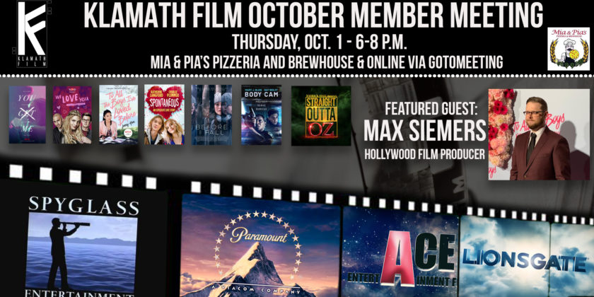 Hollywood film producer Max Siemers guest at October Klamath Film meeting