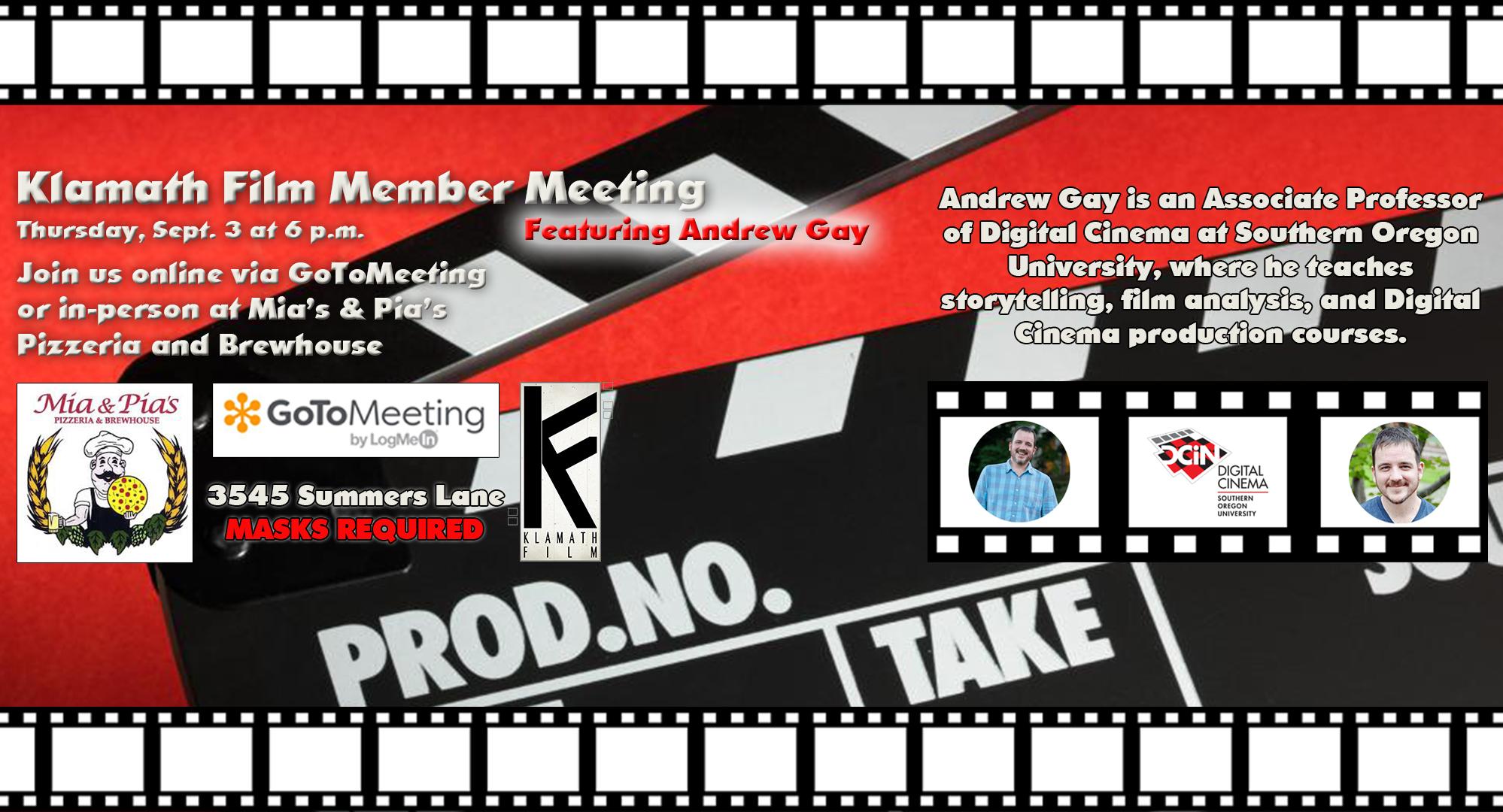 Klamath Film member meetings return to Mia & Pia's Sept. 3