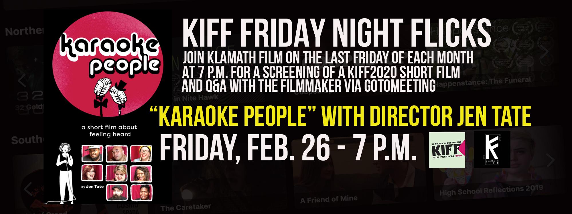 "Friday Night Flicks: ""Karaoke People"" Feb. 26"