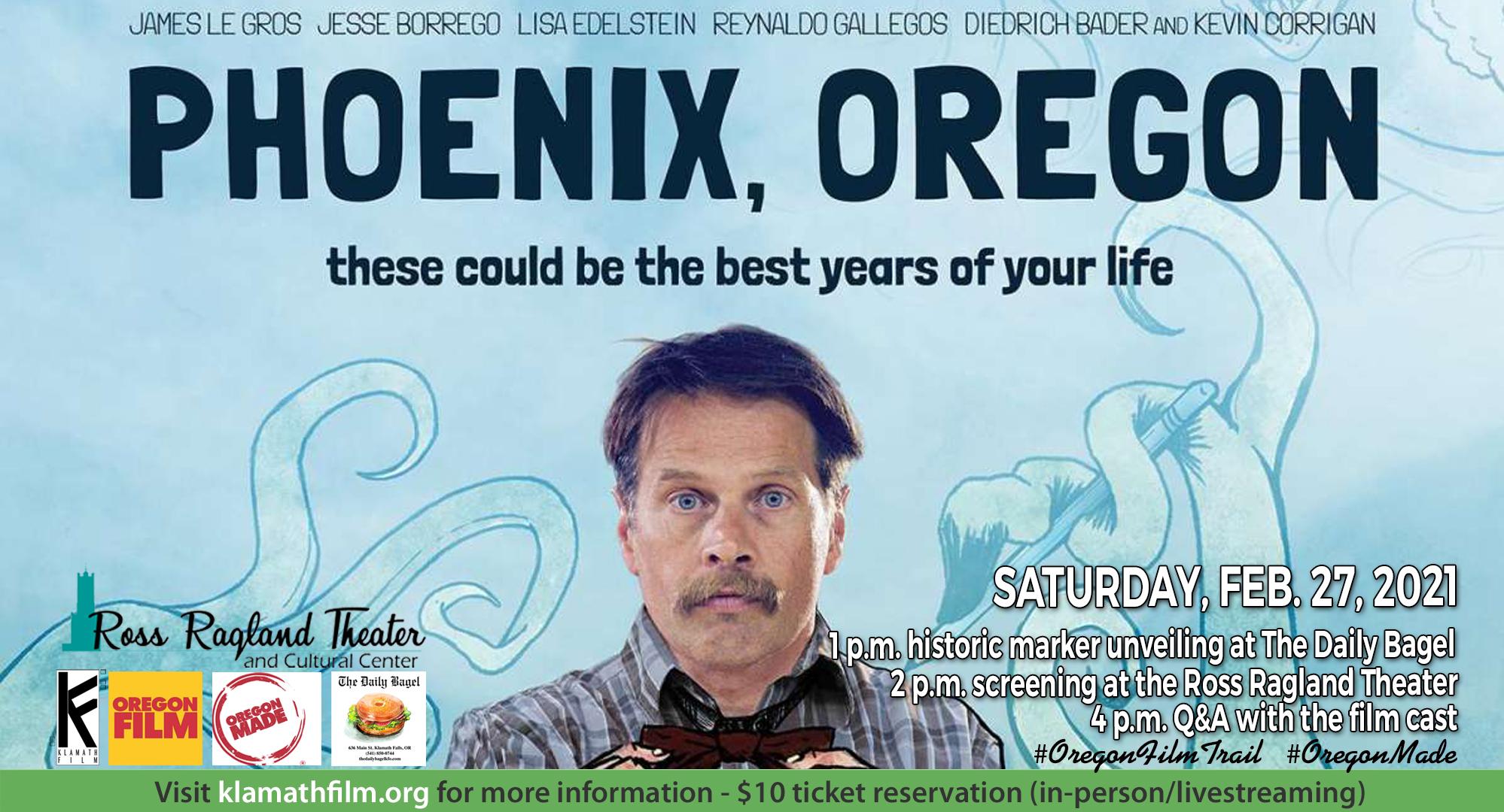 "Historic marker, film screening to highlight celebration of ""Phoenix, Oregon"" Feb. 27"