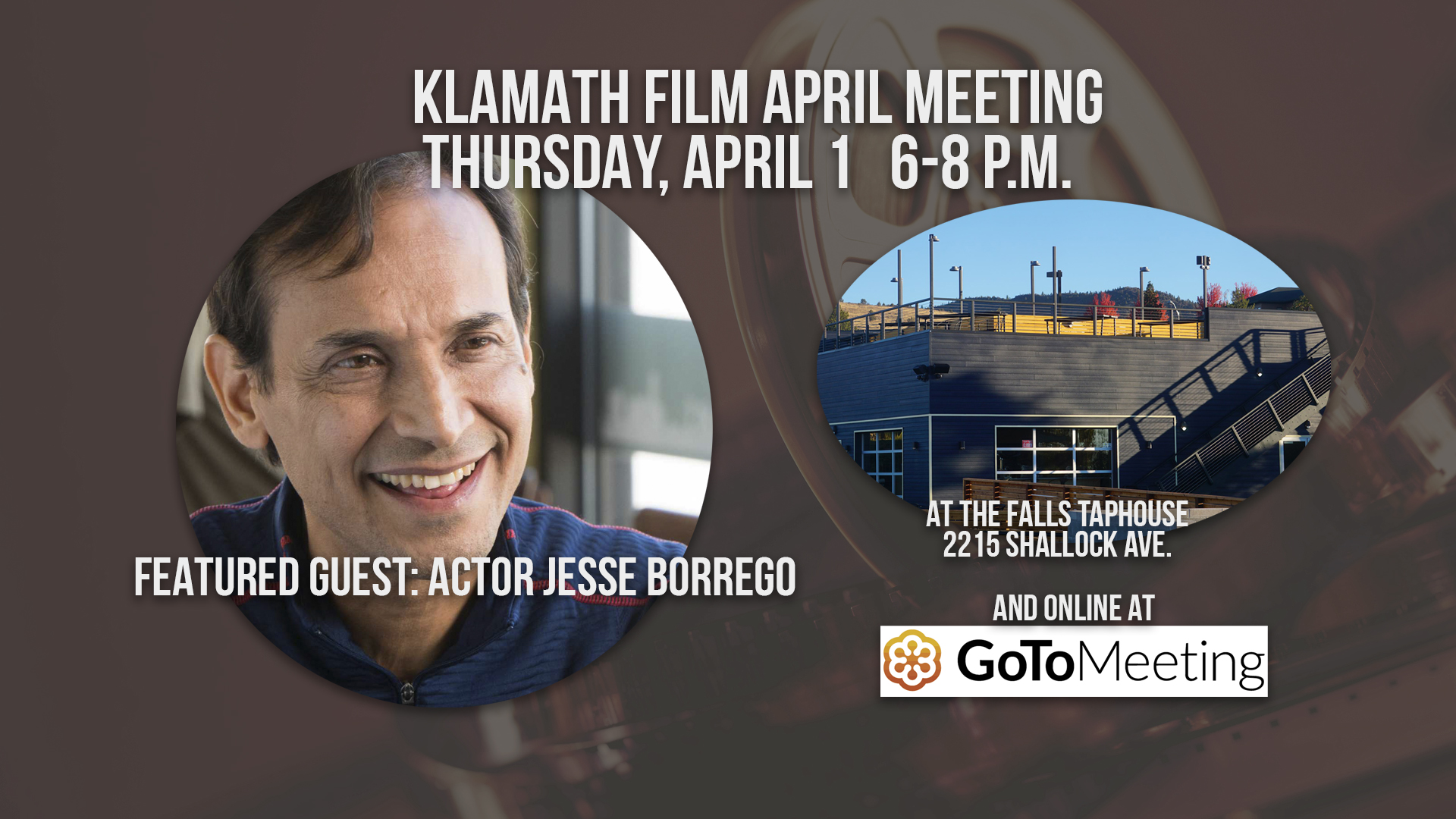 April member meeting at the Falls Taphouse features talk with iconic actor Jesse Borrego
