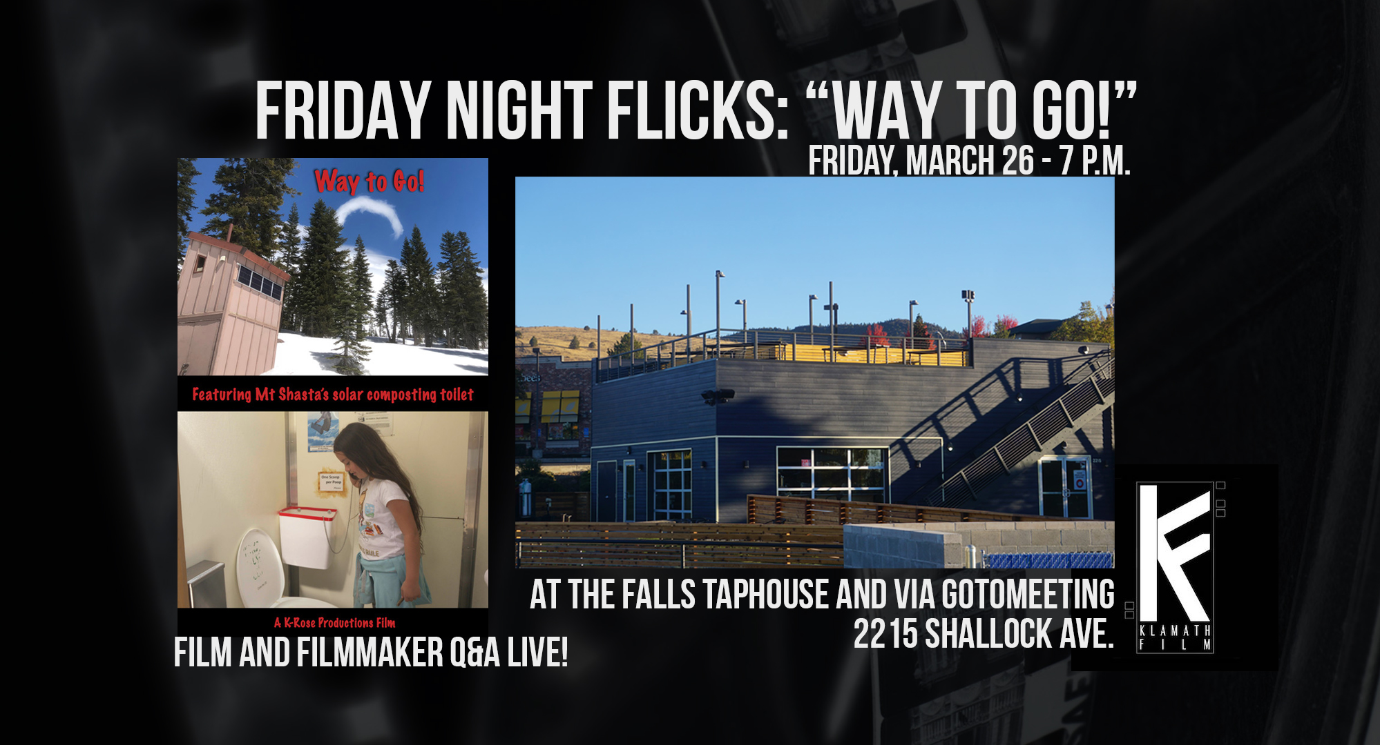 'Way to Go!' film screening and Q&A at Falls Taphouse March 26