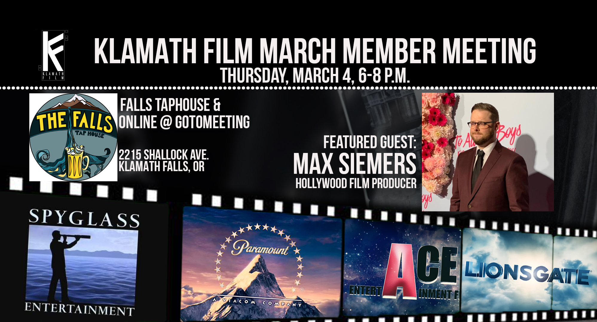 March member meeting at the Falls Taphouse Thursday