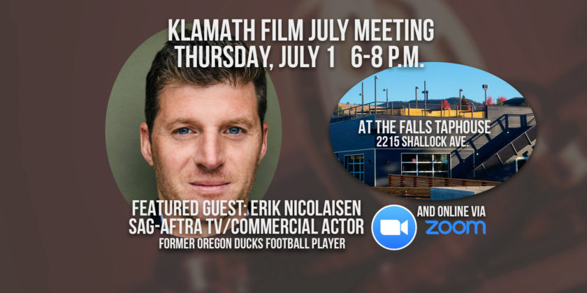July member meeting at the Falls Taphouse features talk with actor/former Oregon Ducks footballer Erik Nicolaisen