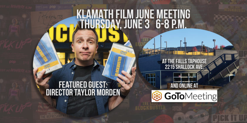 June member meeting at the Falls Taphouse features talk with film director Taylor Morden