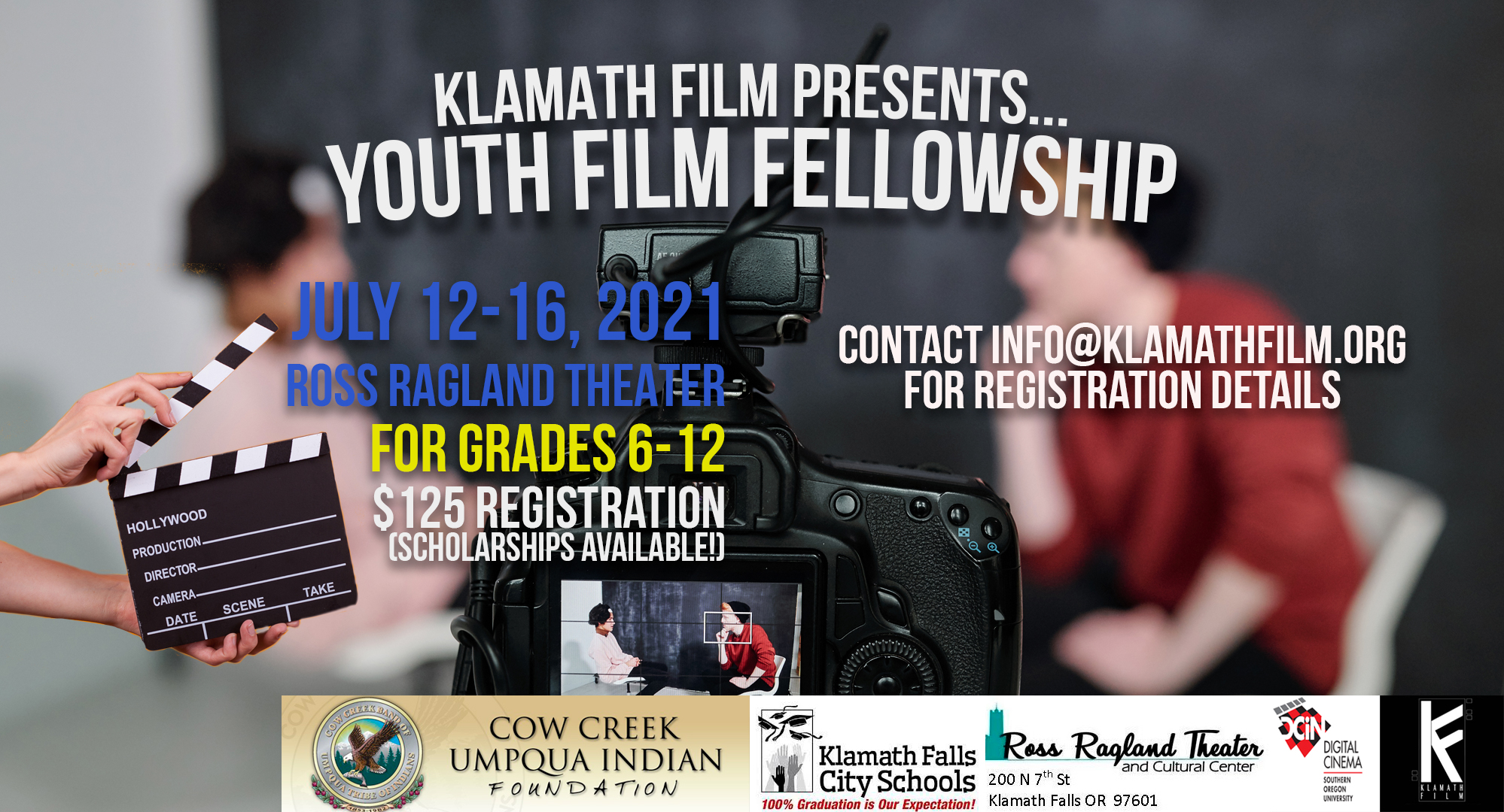 Klamath Film partners with KFCSD, SOU for second Youth Film Fellowship